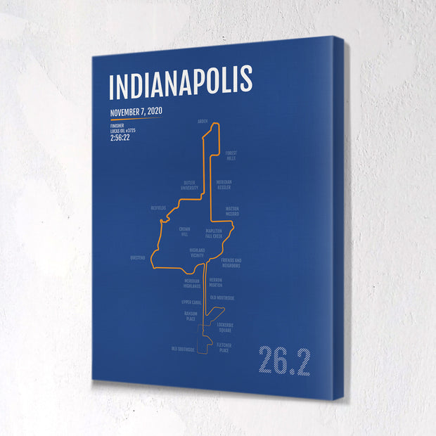Indianapolis Marathon Map Print - Personalized for 2020
