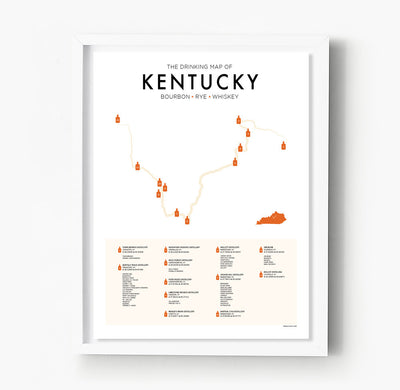Kentucky Bourbon Trail Map
