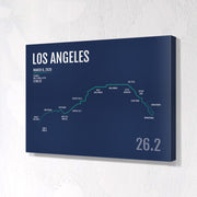 Los Angeles Marathon Map Print - Personalized for 2020