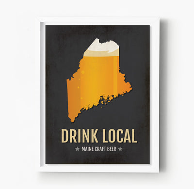 Maine Beer Print Map