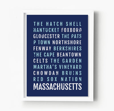 Massachusetts Subway Poster