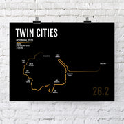 Minneapolis St. Paul Twin Cities Marathon Map Print - Personalized for 2020