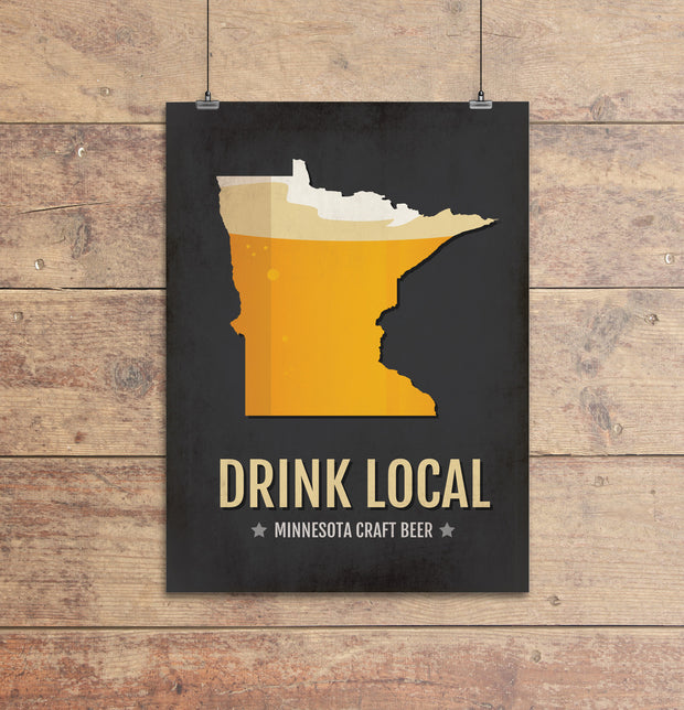 Minnesota Beer Print Map