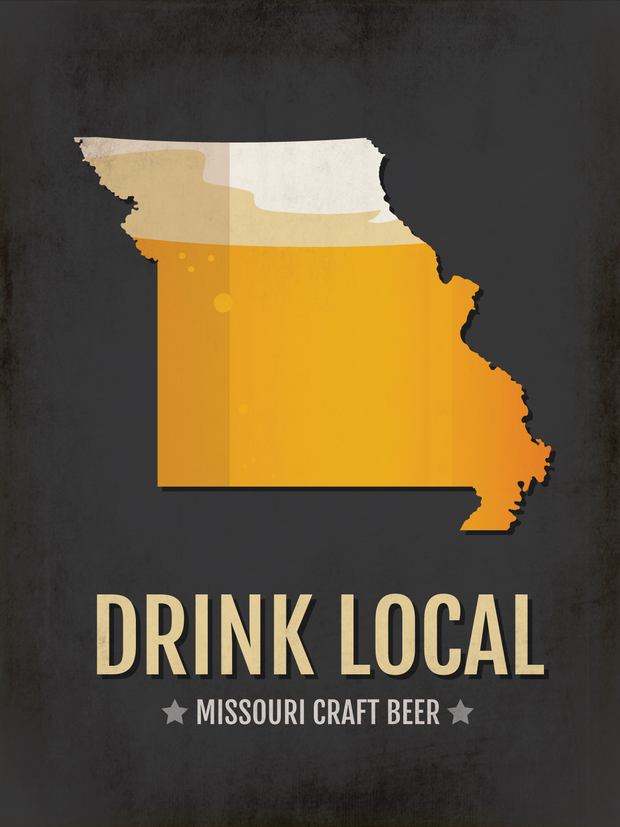 Missouri Beer Print Map