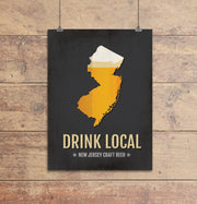 New Jersey Beer Print Map