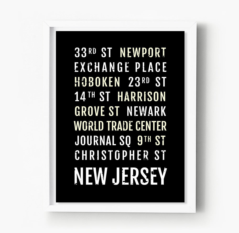 New Jersey PATH Stations Subway Poster – Sproutjam