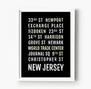 New Jersey PATH Stations Subway Poster