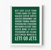 New York Jets Subway Poster