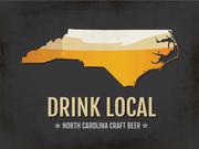 North Carolina Beer Print Map