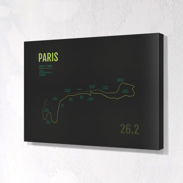 Paris Marathon Map Print - Personalized for 2020