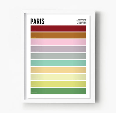 Paris Iconic Colors Print