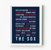 Boston Red Sox Subway Poster
