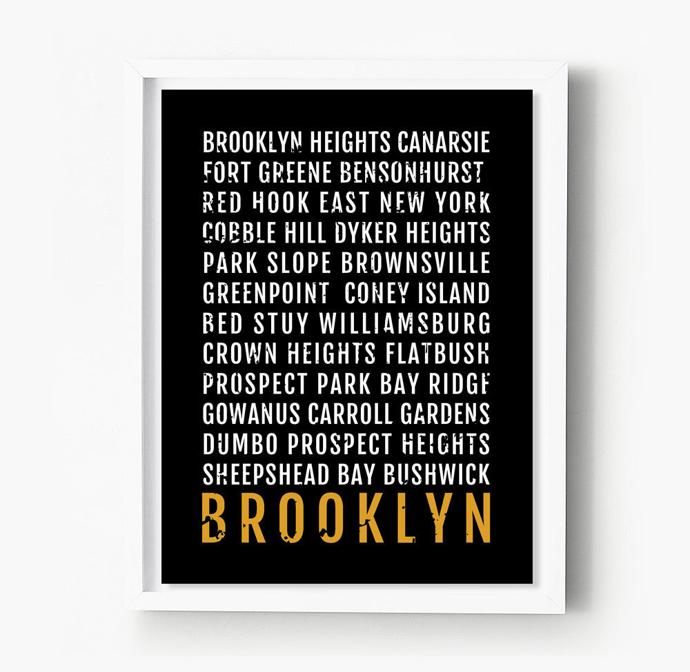 Brooklyn Subway Poster