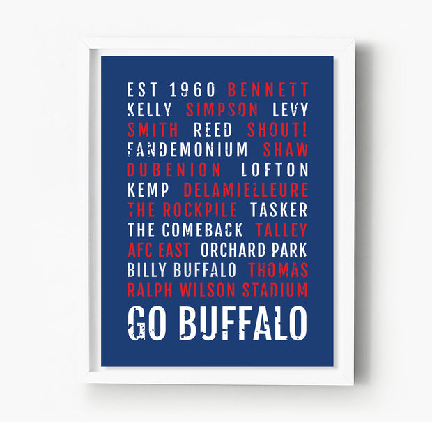 Buffalo Bills Subway Poster