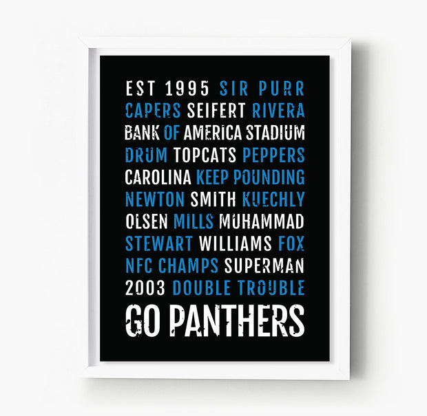 Carolina Panthers Subway Poster