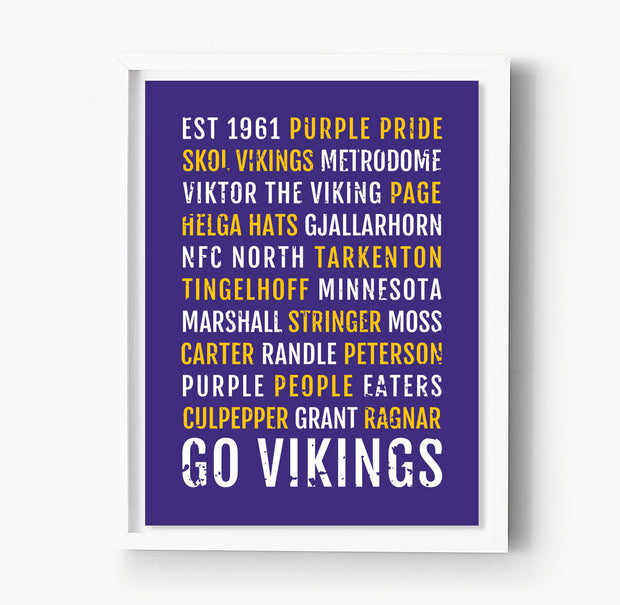 Minnesota Vikings Subway Poster
