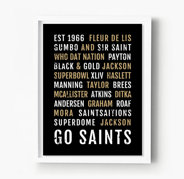 New Orleans Saints Subway Poster
