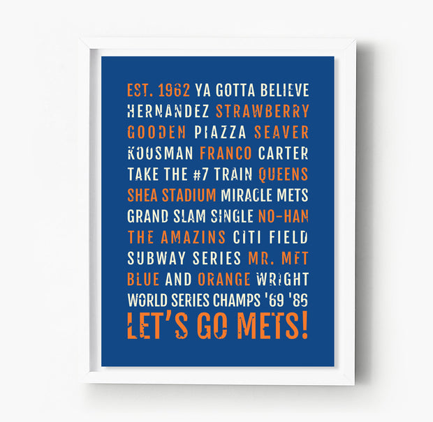 New York Mets Subway Poster