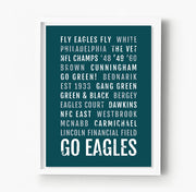 Philadelphia Eagles Subway Poster