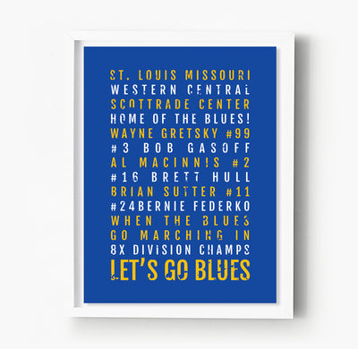 St. Louis Blues Subway Poster