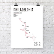 Philadelphia Marathon Map Print - Personalized for 2020