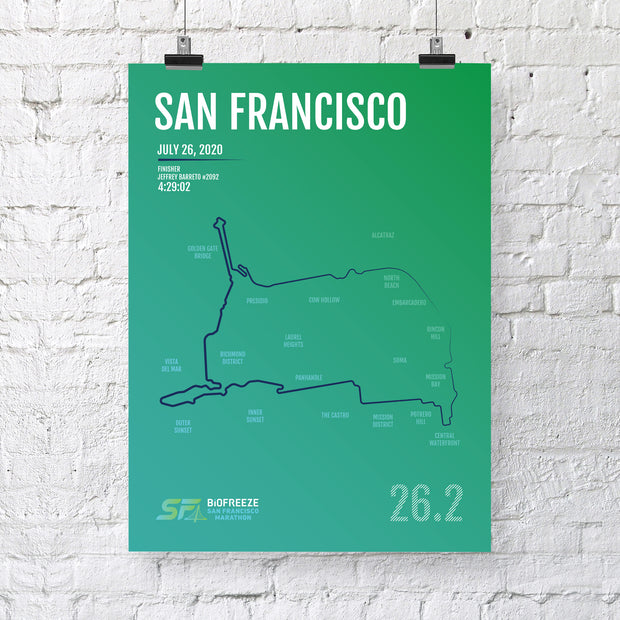 San Francisco Marathon Map Print - Personalized for 2020
