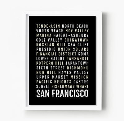 San Francisco Subway Poster
