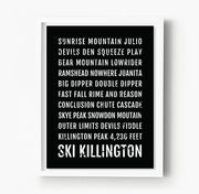 Ski Killington Vermont Subway Poster
