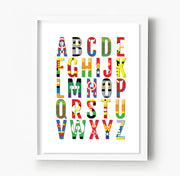Superhero Alphabet Nursery & Kids Room Print