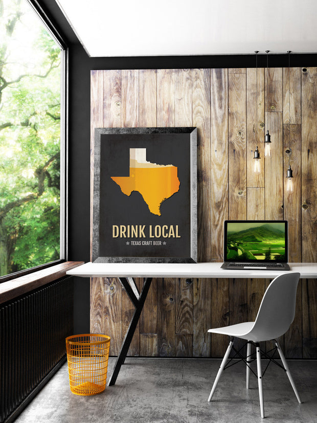 Texas Beer Print Map