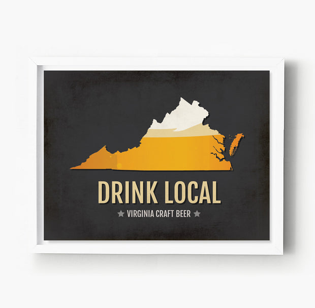 Virginia Beer Print Map