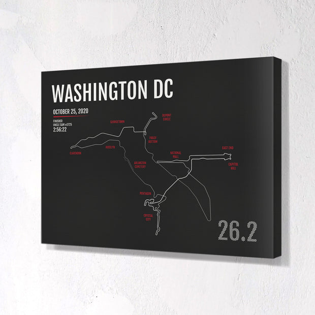 Marine Corps Marathon Map Print - Washington DC - Personalized for 2020