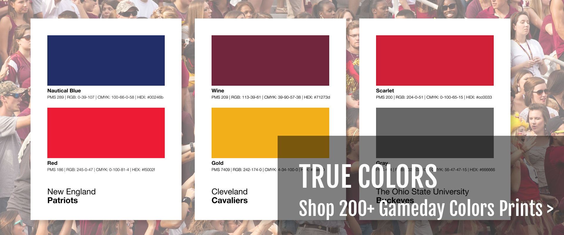 Shop Gameday Colors Prints