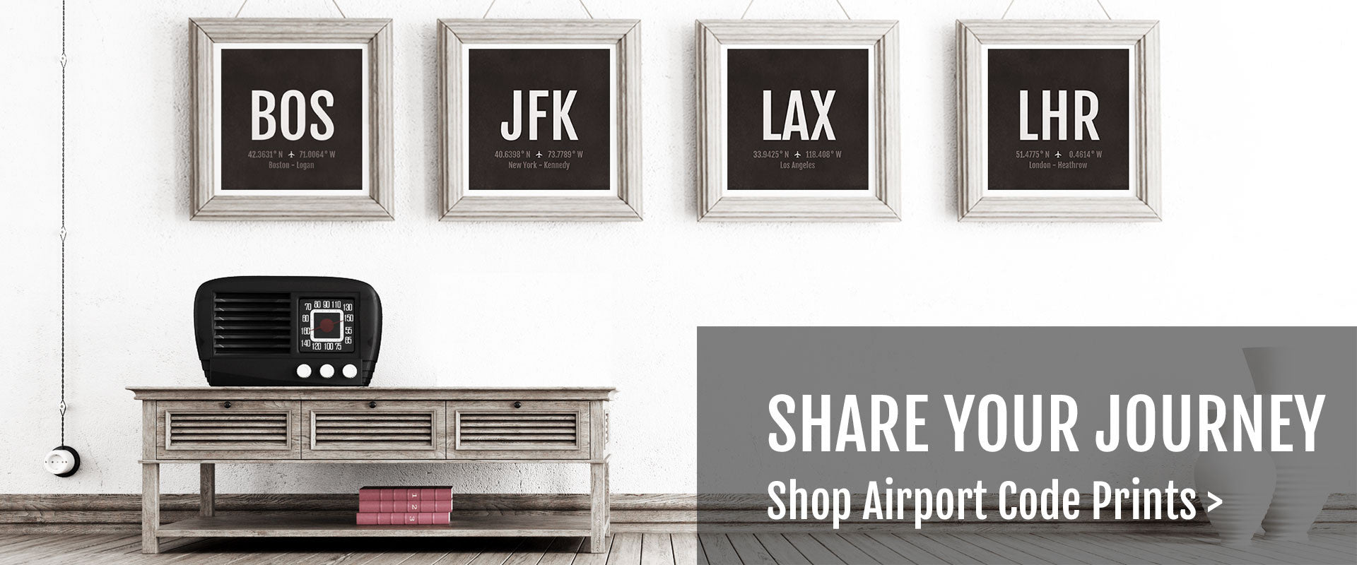 Shop Airport Code Prints