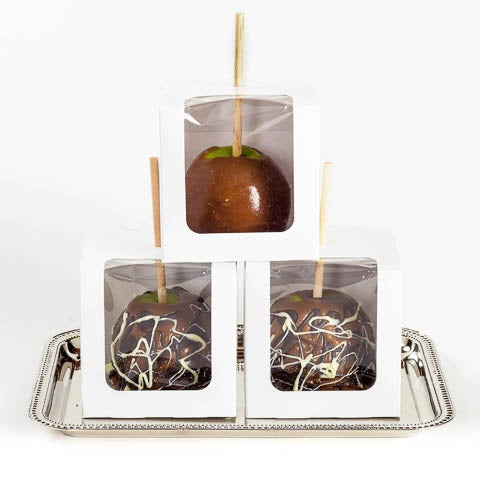 Assortment of caramel apples