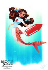 Rescue Siren Kelby by Dylan Bonner, mermaid form