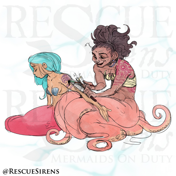 """""""Rescue Sirens"""" Cephalopod Class mermaid, Tattooing & Body Art Guild"""