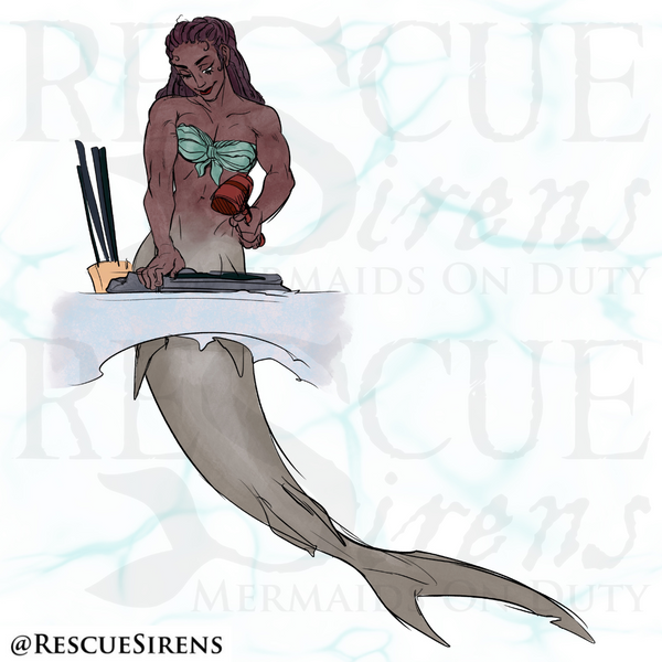 """""""Rescue Sirens"""" Shark Class mermaid, Weaponry Guild"""