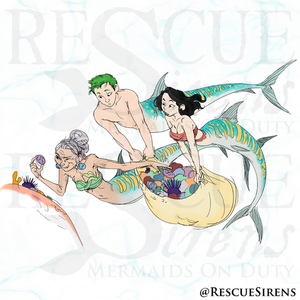 """""""Rescue Sirens"""" Pisces Class mermaids and merman, Foraging Guild"""