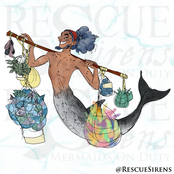 """""""Rescue Sirens"""" Dolphin Class merman, Trading Guild"""