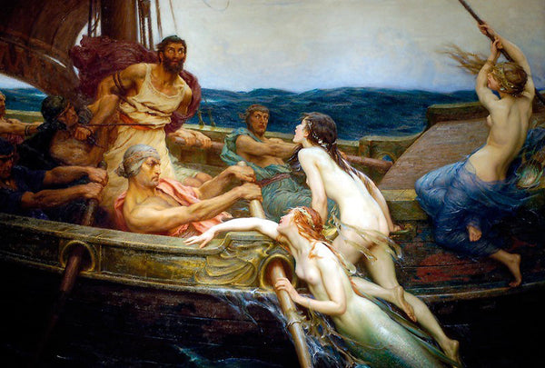 """Ulysses and the Sirens,"" Herbert James Draper (1909)"