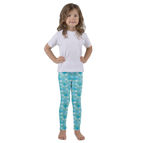 Rescue Siren Nim aqua mermaid scale leggings for kids