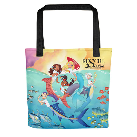 """Rescue Sirens"" Group Shot Tote (Artist: Chris Sanders)"