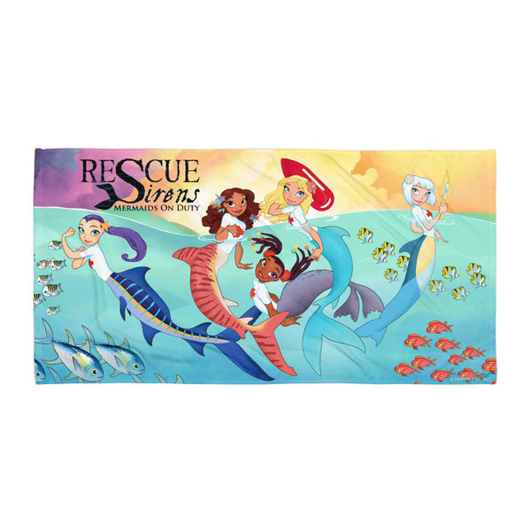 "The Pod's All Here - ""Rescue Sirens"" Towel (Artist: Chris Sanders)"