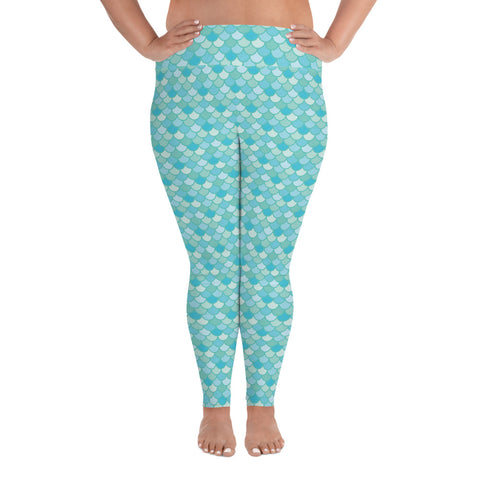Nim Aqua - Classic Mermaid Scales Leggings - MerCurvy