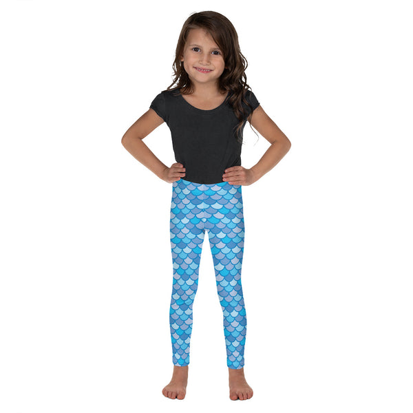 Echo Navy Blue - Classic Mermaid Scales Leggings - Kids'