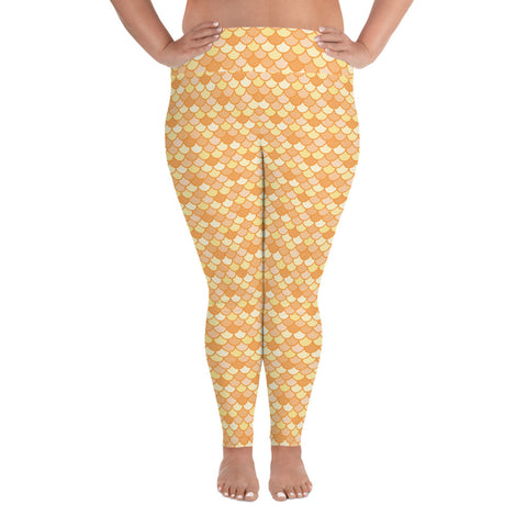 Maris Gold - Classic Mermaid Scales Leggings - MerCurvy