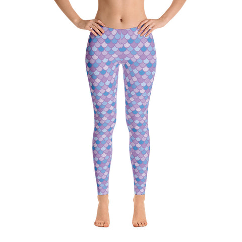 Pippa Purple - Classic Mermaid Scales Leggings - Adult