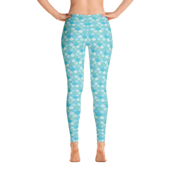 Nim Aqua - Classic Mermaid Scales Leggings - Adult