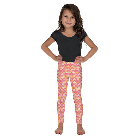 Kelby Coral - Classic Mermaid Scales Leggings - Kids'